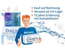 20% auf Kontaktlinsen & Pflegemittel bei MrLens.ch