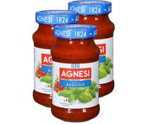 Agnesi Tomatensauce mit Basilikum im 3er-Pack