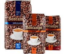 Alle Boncampo Kaffees, in Bohnen und gemahlen, UTZ