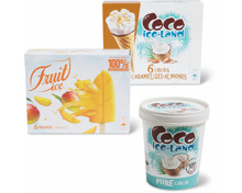 Alle Coco Ice-Land Glace und Fruit Ice