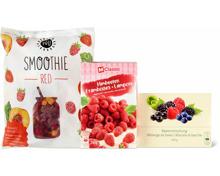 Alle Früchte, Beeren und Marroni-Produkte sowie You Smoothies