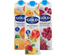 Alle Gold Säfte 1 Liter und 330 ml
