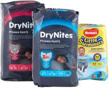 Alle Huggies-DryNites und -Little Swimmers