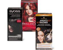 Alle Syoss- und Schwarzkopf-Colorationen sowie Gliss Kur Pflege-Produkte