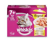 auf das ganze Whiskas- und Sheba- Sortiment nach Wahl, z. B. Whiskas Ragout 7+, Geflügel in Gelée, 12 x 85 g