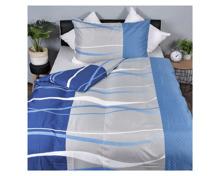 Bettwäsche mit blauem Design