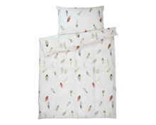 Bettwäsche weiss mit Federn