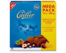 Cailler Tafelschokolade Milch-Nuss, 13 x 100 g, Multipack