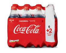 Coca-Cola Classic, 6 x 45 cl + 2 gratis