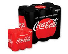 COCA-COLA® Classic oder Zero Dosen