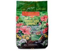 Compo Compact Blumenerde, universell einsetzbar, insbesondere für alle Zimmer- und Balkonpflanzen, 12 Liter