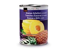 Coop Ananas, 10 Scheiben, 6 x 340 g, Multipack