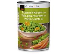 Coop Erbsen mit Karotten, fein, 3 x 260 g, Trio