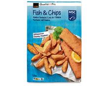 Coop Fish & Chips, MSC, aus Wildfang, Nordpazifik, tiefgekühlt, 1,1 kg