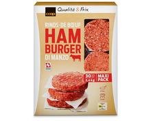 Coop Hamburger, Schweiz, tiefgekühlt, 30 x 80 g