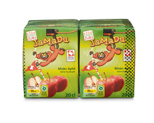 Coop JaMaDu Apfelsaft, 4 x 20 cl, Quattro