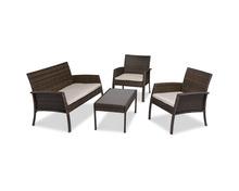 Coop Loungeset Minot, Stahlgestell, Kunststoffgeflecht braun, inkl. Kissen beige, bestehend aus zwei Sesseln