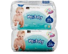 Coop My Baby Feuchttücher, aus 99% Wasser, 8 x 72 Stück, Multipack