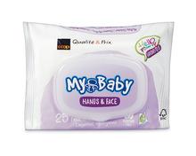 Coop My Baby Feuchttücher Hands & Face, FSC-Mix, 6 x 25 Stück, Multipack