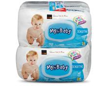 Coop My Baby Feuchttücher Sensitive, 8 x 72 Stück, Multipack