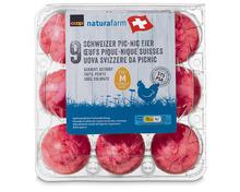 Coop Naturafarm Picknickeier, gekocht und gefärbt, aus Freilandhaltung, Schweiz, 53 g+, 9 Stück