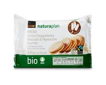 Coop Naturaplan Bio-Doppelkeks mit Kakaocreme, Fairtrade Max Havelaar, 3 x 90 g