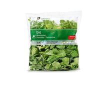Coop Naturaplan Bio-Nüsslisalat, fertig gerüstet und gewaschen, 100 g +10% gratis