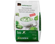 Coop Naturaplan Bio-Rahmspinat, Schweiz, tiefgekühlt, 3 x 650 g, Trio
