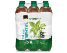 Coop Naturaplan Bio-Thé vert menthe, Fairtrade Max Havelaar, 6 x 1,5 Liter