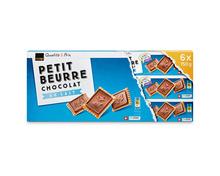 Coop Petit Beurre Chocolat au Lait, Fairtrade Max Havelaar, 6 x 150 g, Multipack