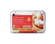 Coop Schweizer Eier aus Bodenhaltung, 53 g+, 15 Stück