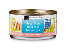 Coop Thon rosé naturel, MSC, 8 x 155 g, Multipack