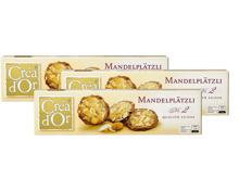 Créa d'Or-Mandelplätzli, -Nobile und -Buttersnack im 3er-Pack