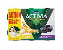 Danone Activia Cerealien-Pflaume, 6 x 125 g