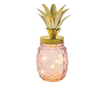 Deko-Ananas mit LED rosa