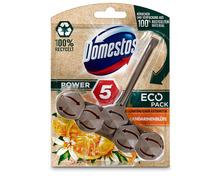 Domestos WC-Steine Power 5 «Mandarinenblüte», Eco-Pack, 3 x 55 g, Trio