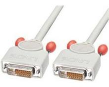 DVI-D Digitalkabel, Dual-Link, 10m (10m, Grau)
