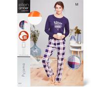 Ellen Amber Damen-Pyjama marine, Bio Cotton