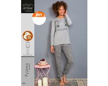 Ellen Amber-Damen-Pyjama oder -Nachthemd, Bio Cotton