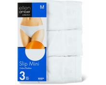 Ellen Amber Damen-Slip Midi oder Mini im 3er-Pack