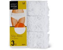 Ellen Amber Damen-Slip-Mini oder -Midi im 3er-Pack