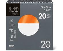 Ellen Amber Damen-Söckchen oder -Kniestrümpfe im 20er-Pack