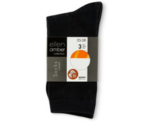 Ellen Amber Damen-Socken im 3er-Pack, Bio Cotton