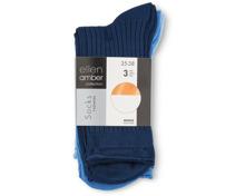 Ellen Amber Damen-Socken oder -Sneaker-Socken im 3er-Pack