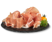 Emilia Romagna Prosciutto crudo und Salame Felino, geschnitten