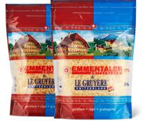 Emmentaler & Le Gruyère Reibkäse, AOP, Duo-Pack