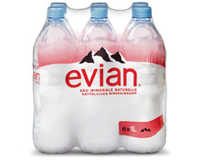 Evian, 6 x 1 Liter