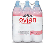 Evian, 6 x 1,5 Liter