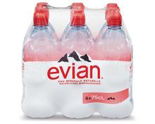 Evian, 6 x 75 cl