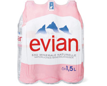 Evian im 6er-Pack, 6 x 1.5 Liter